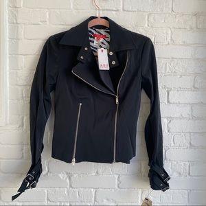NWT ABS by Allen Schwartz Black Motto Jacket Sz 2